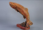 rainbow trout bronze sculpture