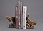 trout book ends bronze sculpture
