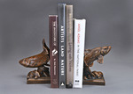 Trout Bookends bronze sculpture