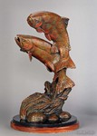 Cutthroat trout bronze sculpture