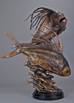 bronze fish sculpture art
