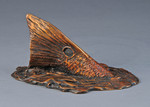 redfish tail bronze sculpture