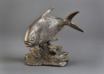 permit fish sculpture bookend