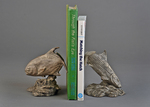 bonefish permit bookend bronze sculpture