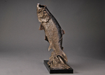 tarpon fish bronze sculpture