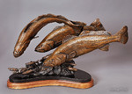 spotted weakfish bronze sculpture