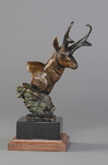 pronghorn antelope bronze sculpture