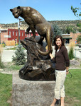 mountain lion cougar puma bronze sculpture