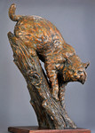 bobcat bronze sculpture