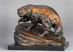 wolverine bronze sculpture