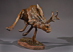 jackalope bronze sculpture