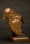 Red Tailed Hawk Bust bronze sculpture