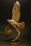 red-tailed hawk bronze sculpture