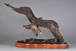 bald eagle bronze sculpture